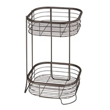 InterDesign Forma Free Standing Bathroom or Shower Storage Shelves for Towels, S - $19.50