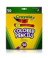 Crayola Colored Pencils, Assorted Colors, 50 Count, Gift - $8.16
