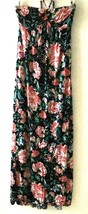 Forever 21 Women's XS Dress Maxi Black Floral Strapless Tie Back Halter ... - $39.99