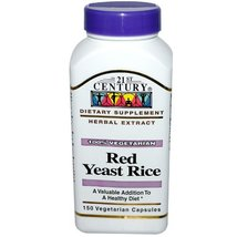 Red Yeast Rice Extract 150 Veg Caps by 21st Century - $17.32