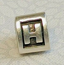 Authentic Pandora Charm Sterling Silver Alpha H 790323H 3 Sided Letter R... - $23.99