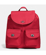 Coach Nylon BackPack in red $375 Billie charlie Charles F 58814 NWT - $127.71