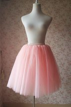 Blush Pink Tulle Skirt Knee Length Ballerina Skirt Girl Tutu
