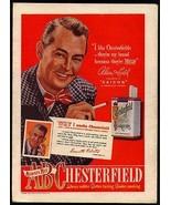 Alan Ladd 1948 Photo Ad Chesterfield Cigarettes Leavitt Roberts Paris KY - $14.99