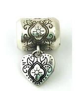 Brighton Silver Folkloric Abella Heart XOX Charm Bead New JC2132 - $17.10