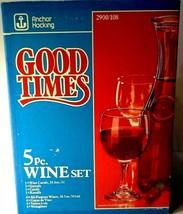 Vintage • Mid Century • Anchor Hocking 5 Piece Wine Set Set • Good Times - $17.33