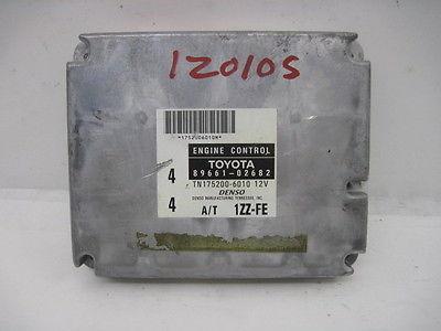 00 TOYOTA COROLLA AT FED ECU ECM COMPUTER 89661-02682