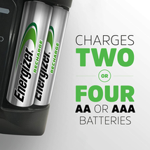 Energizer Rechargeable AA and AAA Battery Charger (Recharge Pro) with 4 ... - $38.20