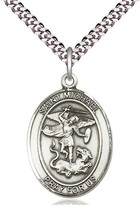 St. Michael the Archangel Sterling Silver  - Pendant - on a 24-inch chain - $63.99