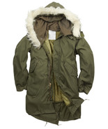 NEW ORIGINAL US M65 FISHTAIL PARKA LINED HOODED XS, S,  M,  L - $191.97+