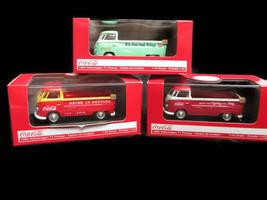 Coca-Cola Set of 3 1961 Volkswagen T1 Pickups 1:43- BRAND NEW - $72.77