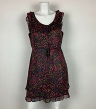 J Crew Dress Silk Floral Sleeveless Multicolor Ruffled Career Casual Sz 6 - $49.99