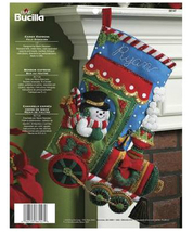 Bucilla Felt Stocking Kit, Candy Express, 18in embroidery, XMAS, Christmas - $26.99