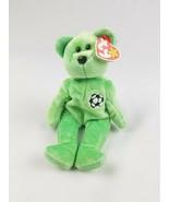 Vtg 1999 TY Beanie Baby Kicks Soccer Bear green retired - $9.90