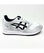 Asics Gel-Saga White Black Womens Running Shoes 1192A112 100 - $69.95