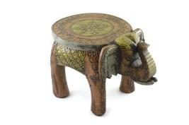 "Handmade Wooden Handicraft Large Stool Elephant Home Decor 15"" - $168.99"
