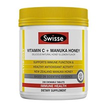 Swisse Ultiboost Vitamin C with Manuka Honey | Immunity Support, Rich in Antioxi