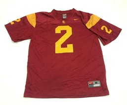 Nike Southern California USC Trojans Football Jersey Size Medium Red Loose Fit - $21.63