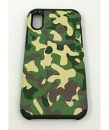 iPhone X 10 Camouflage Green Hybrid Dual Layered Shock Proof Protective ... - $7.91