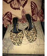 COVINGTON Adorable Leopard  Print Kitten Sandals Size 6M - $12.87