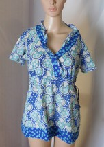 Landau Women's Scrub Top Size S - Short Sleeves - Drawstring Umpire Wais... - $14.01
