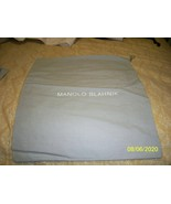 Manolo Blahnik Auth Gray  with White Logo 13 x 14 Gray Dust Bag - $4.74