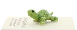 Hagen-Renaker Miniature Ceramic Turtle Figurine Tiny Green Baby Turtle image 2