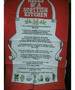 Rules Of A Scottish Kitchen Cotton Tea Towel By Glen Appin - $11.70