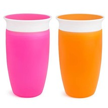 Munchkin Miracle 360 Sippy Cup, Pink/Orange, 10 Ounce, 2 Count - $11.74
