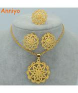 Anniyo Ethiopian Bridal Jewelry Set Gold Color Habesha Wedding Jewellery... - $13.60