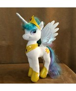 Princess Celestia Hasbro white plush My Little Pony alicorn cape crown u... - $24.50