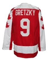 Wayne Gretzky Vaughan Nationals Retro Hockey Jersey New Red Any Size image 2