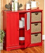 Beadboard Storage Units and Baskets Wooden Organize Cabinets - €40,88 EUR+