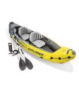 Intex 68307EP Explorer K2 2 Person Inflatable Kayak Set and Air Pump, Ye... - $199.99