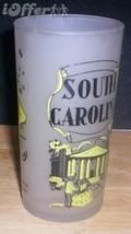 1960'S RETRO HAZEL ATLAS-- FROSTED SOUVENIR SOUTH CAROLINA GLASS TUMBLER - $14.95