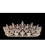 Regal Gold Marquise Rhinestone Bridal Wedding Princess Tiara Crown - $85.45