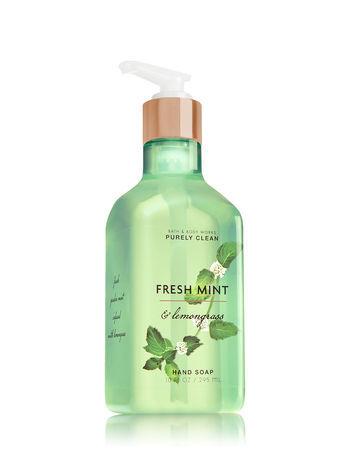 Bath & Body Works FRESH MINT & LEMONGRASS Purely Clean Hand Soap (Lot of 2)
