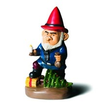 """Big Mouth Inc. Scrooge Garden Gnome 9.5"""" New Weatherproof - $24.18"""