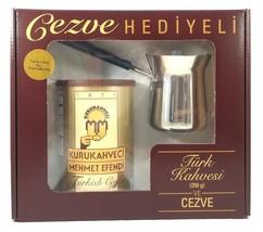 Mehmet Efendi Turkish Coffee 8.8Oz W/ Stainless Steel Coffee Pot - £10.51 GBP