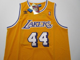 JERRY WEST / NBA HALL OF FAME / AUTOGRAPHED L.A. LAKERS THROWBACK JERSEY / COA image 2
