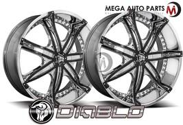 2 X Diablo DNA 22X9.5 Blank 40 Offset 78.1 Hub Chrome Wheels Rims - $834.55