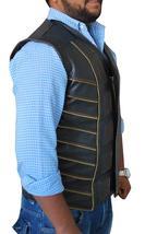 Dark Matter Three Anthony Lemke Black Leather Padded Vest image 2