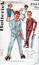 Butterick #2341 Boys Pajamas Sewing Pattern Size 8 Chest 26 Vintage Comp... - $4.94