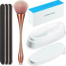 6 Pieces Dip Powder Tray Nail Files and Buffer Set, Include French Nail ... - $19.47