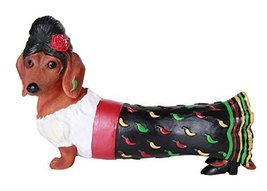 Beauty Red Hot Senorita Doxy Collectible Wiener Dog Dachshund Figurine - ₨1,375.84 INR