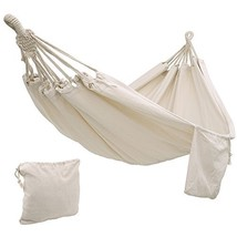 SONGMICS Cotton Hammock Swing Bed for Patio, Porch, Garden or (natural w... - $42.54