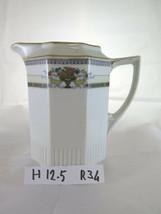Antique Jug Creamer Porcelain Czechoslovakia Tchecoslovaquie R34 - $30.88