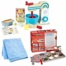 Melissa & Doug Wooden Make-A-Cake Mixer Set with Melissa & Doug Wooden Slice and - $75.23