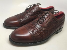 Bragano by Cole Haan Men Brown Leather/Weaved Captoe Oxfords Size 8.5 M ... - $88.11