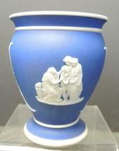 Vintage Wedgwood Cobalt Blue Dip Jasperwere Posy Vase - $33.24